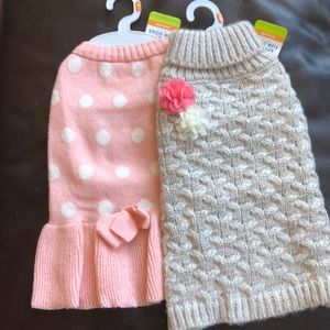 2 NWT Medium Dog Sweaters